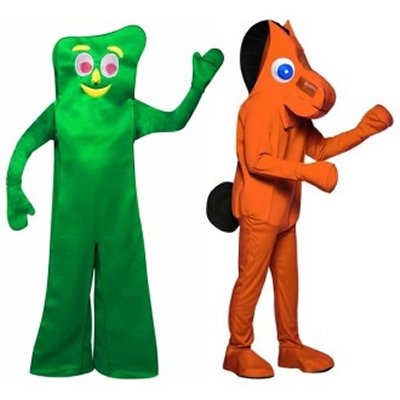 Gumby & Pokey Couple Costumes